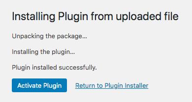 Activate Plugin Screenshot