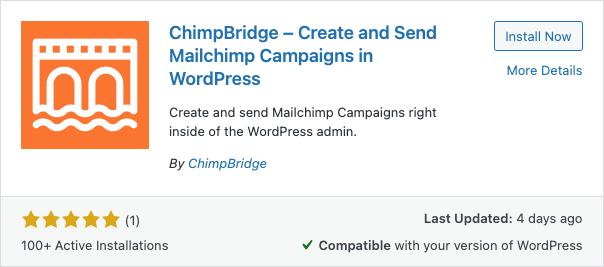 ChimpBridge - Install Now Screenshot